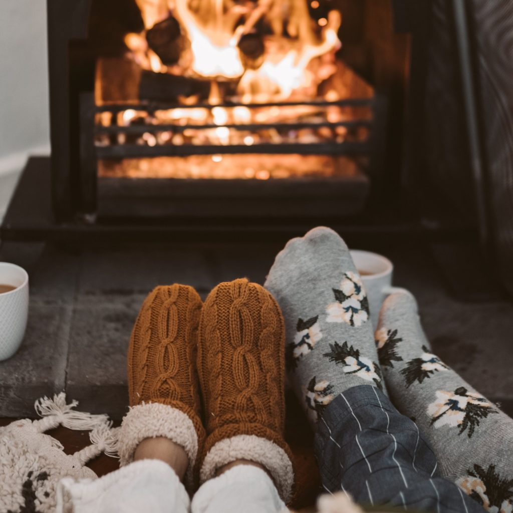 cosy november fire side picture